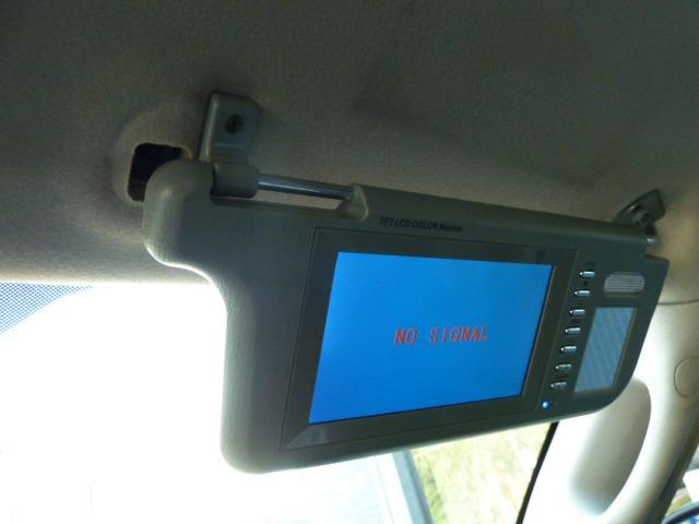 サンバイザーモニター装備☆ご希望に応じて別途オーディオの取付も承ります!