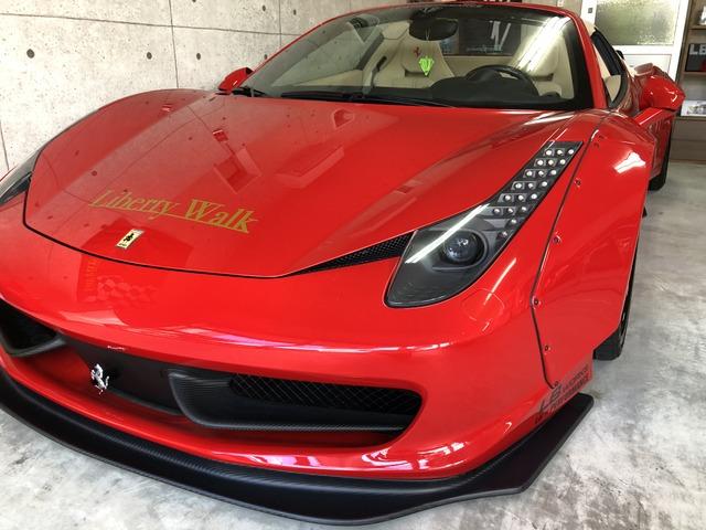 「フェラーリ」「458スパイダー」「オープンカー」「神奈川県」の中古車