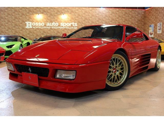 348(フェラーリ) ts D車 赤革 クライスジークマフラー 中古車画像